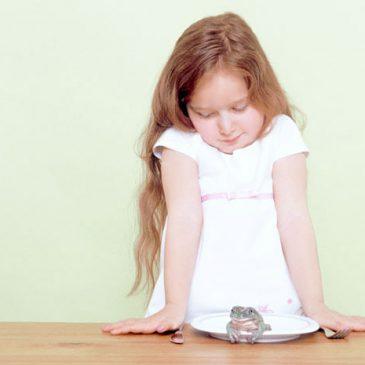 … aus meinem Archiv: Kind mit Frosch (2001)
